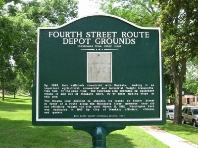 Fourth Street Route Depot Grounds Marker image. Click for full size.