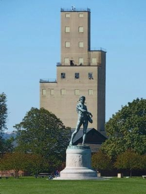 Statue of Orpheus & Grain Elevator image. Click for full size.