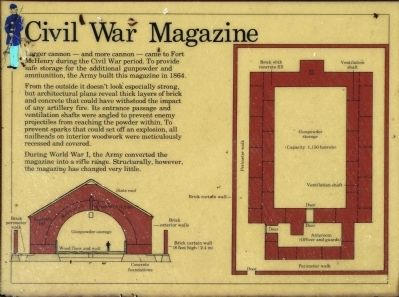 Civil War Magazine Marker image. Click for full size.