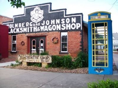 Holmberg and Johnson Blacksmith & Wagonshop & Marker image. Click for full size.
