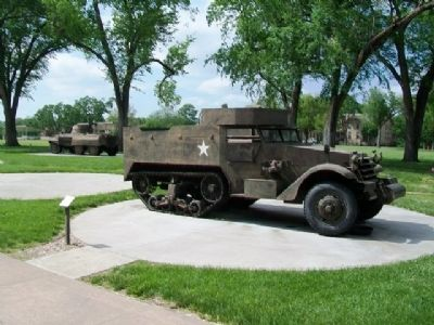 M3 Personnel Carrier Half-Track & Marker image. Click for full size.