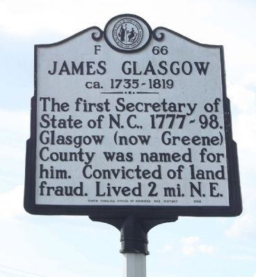 James Glasgow Marker image. Click for full size.