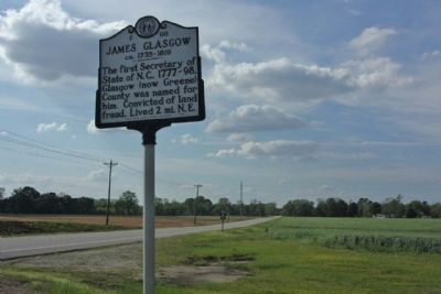 James Glasgow Marker along NC Highway 58 image. Click for full size.