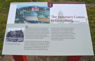 The Seminary Comes to Gettysburg image. Click for full size.