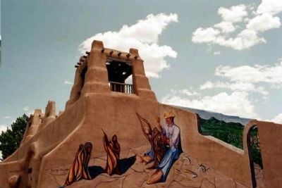 Don Fernando de Taos Plaza artwork image. Click for full size.