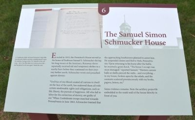 The Samuel Simon Schmucker House Marker image. Click for full size.