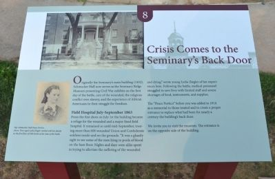 Crisis Comes to the Seminary's Back Door Marker image. Click for full size.