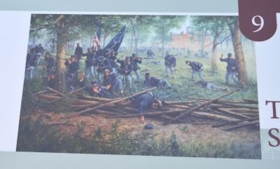 The Union Defense of Seminary Ridge Marker image. Click for full size.