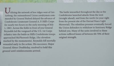 The Battle for McPherson's Ridge Marker image. Click for full size.