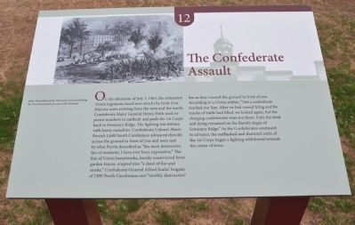 The Confederate Assault Marker image. Click for full size.