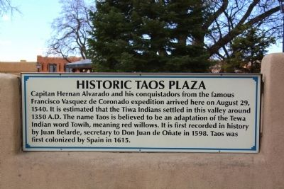 Historic Taos Plaza Marker image. Click for full size.