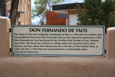 Don Fernando de Taos Marker image. Click for full size.