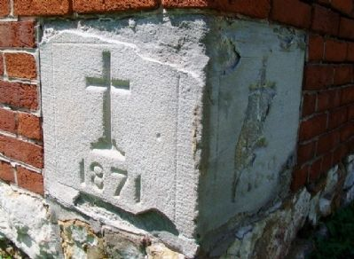 St. Ignatius Chapel Cornerstone image. Click for full size.