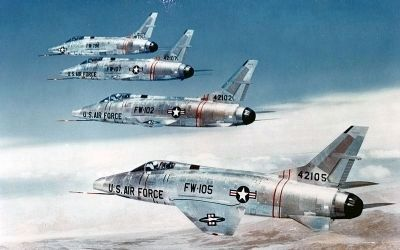 F-100 when 4th Tactical Fighter Wing moved to its present-day location at Seymour Johnson image. Click for full size.