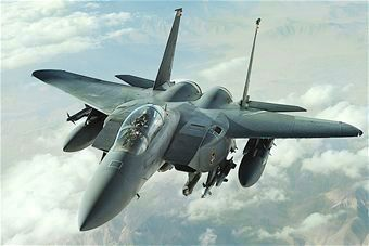F-15E in support of operations Desert Shield and Desert Storm as mentioned image. Click for full size.