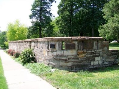 Site of Old Blockhouse and Wall Markers image. Click for full size.