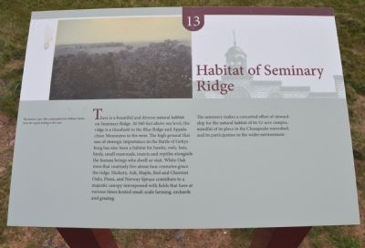 Habitat of Seminary Ridge Marker image. Click for full size.