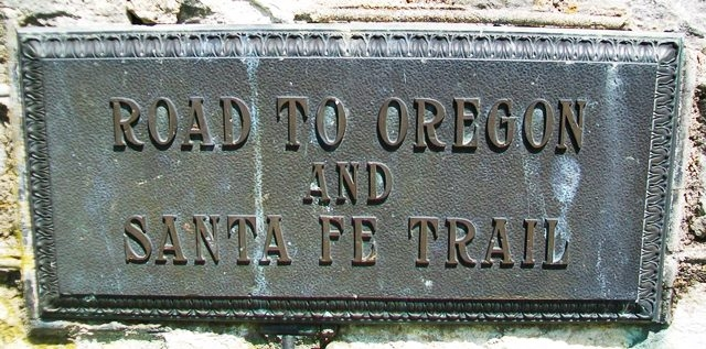 Road to Oregon and Santa Fe Trail Marker