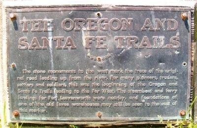 The Oregon and Santa Fe Trails Marker image. Click for full size.