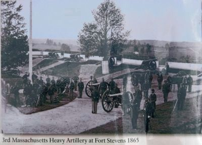 3rd Massachusetts at Fort Stevens, 1865 image. Click for full size.