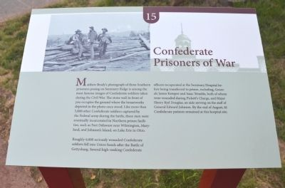 Confederate Prisoners of War Marker image. Click for full size.