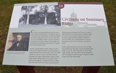 Civilians on Seminary Ridge Marker image. Click for full size.