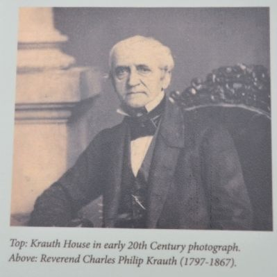 Reverend Charles Philip Krauth (1797-1867) image. Click for full size.