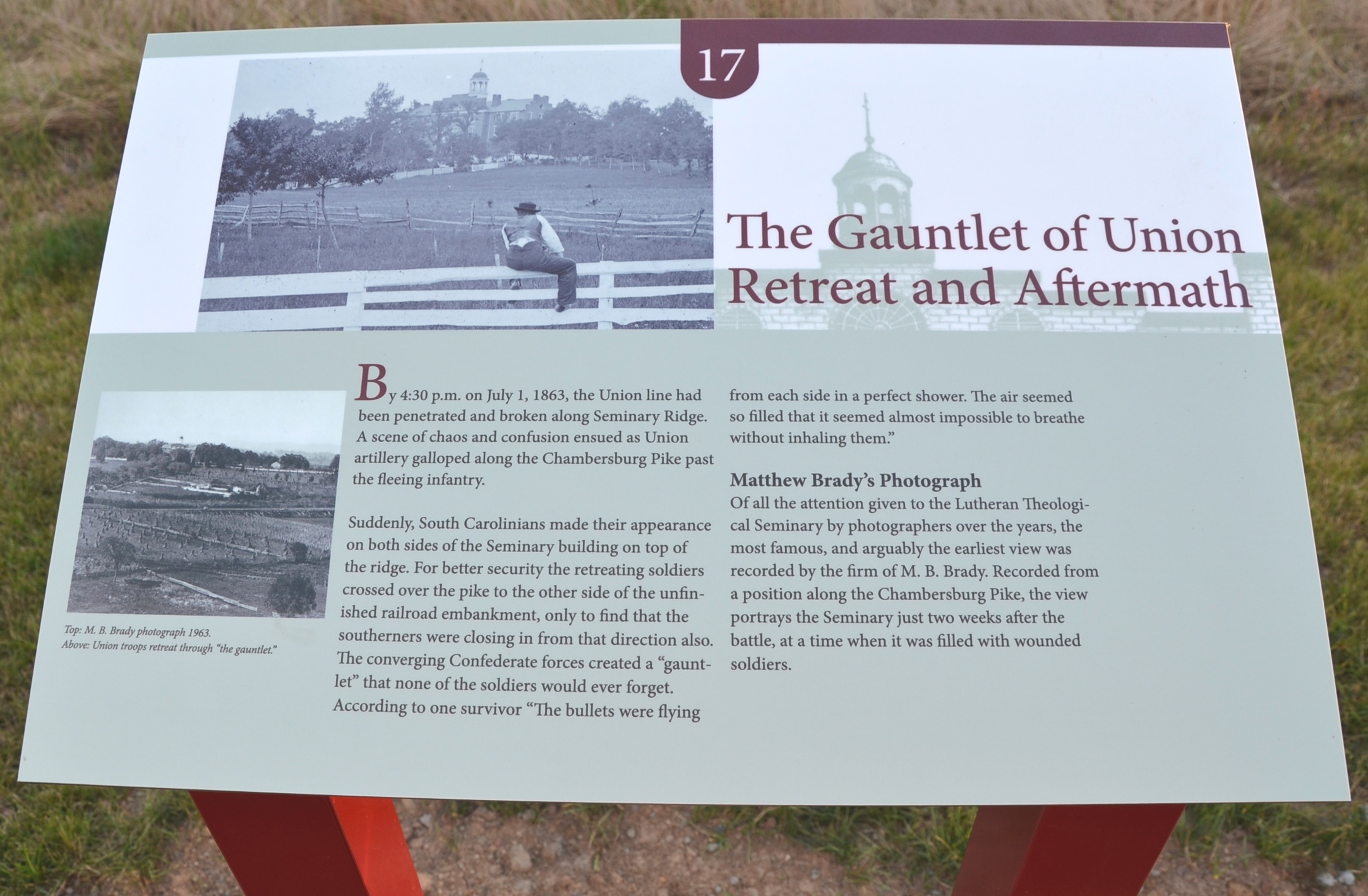 The Gauntlet of Union Retreat and Aftermath Marker