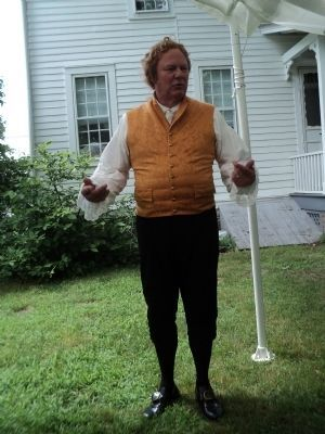 Alexander Hamilton Speaks at the Campfield House image. Click for full size.