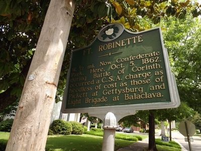 Ft. Robinette Marker image. Click for full size.