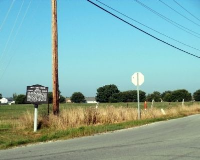 Wide View - - Two Cent Road and Three Notch Road Marker image. Click for full size.