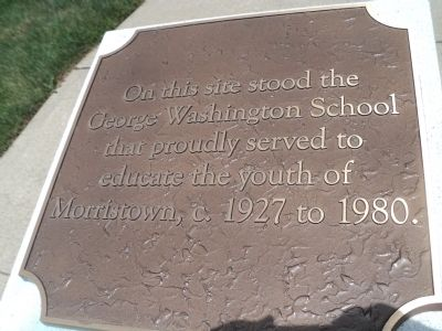 George Washington School Marker image. Click for full size.