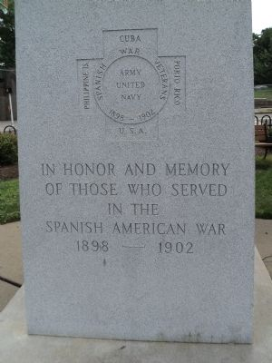 Morristown Spanish American War Memorial Marker image. Click for full size.