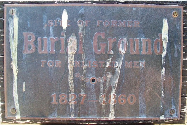 Site of Former Burial Ground Marker