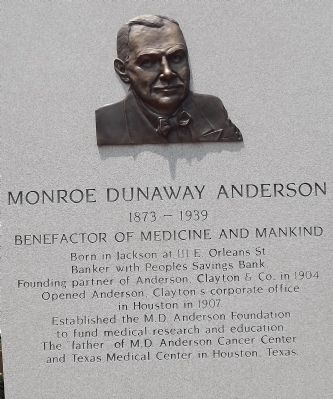 Monroe Dunaway Anderson image. Click for full size.