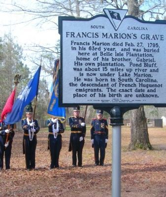 Francis Marion / Francis Marion's Grave Marker image. Click for full size.