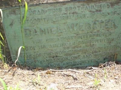 Daniel Webster's Law Office Marker image. Click for full size.