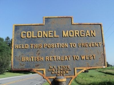 Colonel Morgan Marker image. Click for full size.