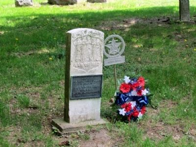 Headstone of Grave Site of Captain Moses Allen image. Click for full size.