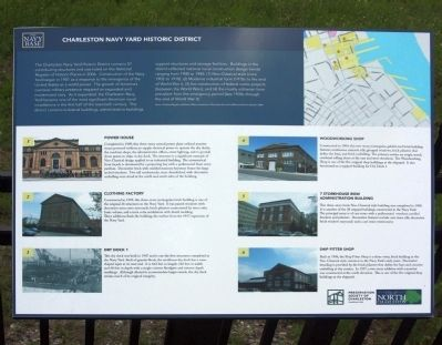 Charleston Navy Yard Historic District Marker image. Click for full size.