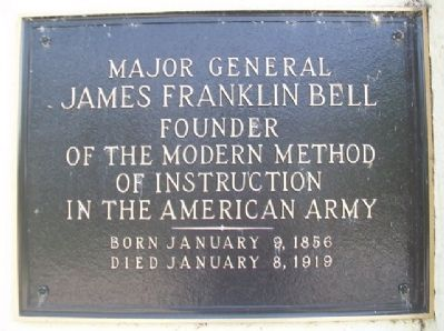 MG James Franklin Bell Marker image. Click for full size.