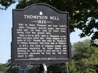 Thompson Mill Marker image. Click for full size.