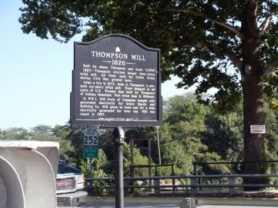 Other View - - Thompson Mill Marker image. Click for full size.