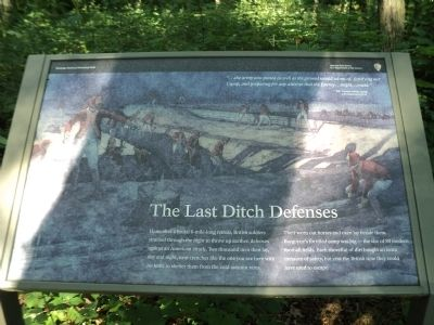 The Last Ditch Defenses Marker image. Click for full size.