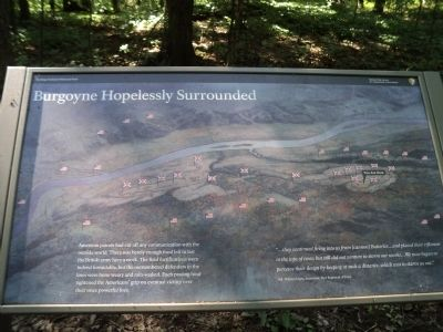 Burgoyne Hopelessly Surrounded Marker image. Click for full size.