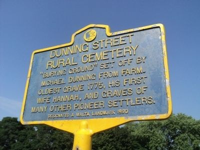 Dunning Street Rural Cemetery Marker image. Click for full size.