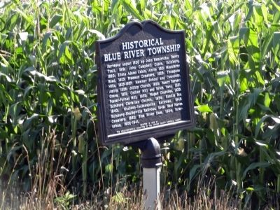 Side B - - Historical Blue River Township Marker image. Click for full size.