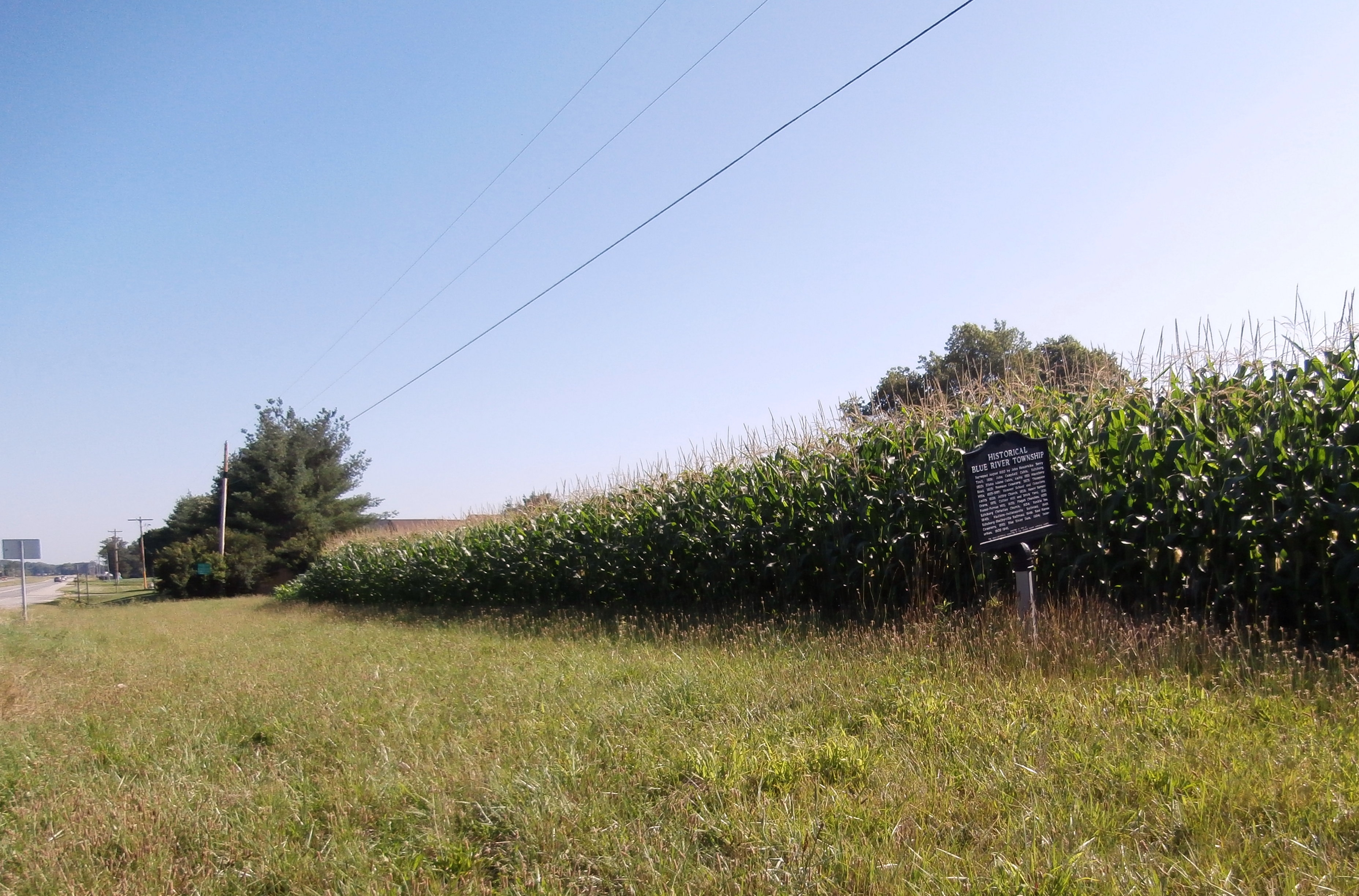 Long View - Side B - - Historical Blue River Township Marker