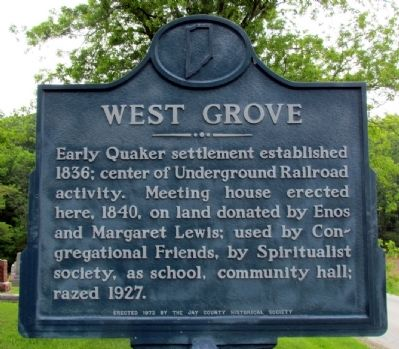 West Grove Marker image. Click for full size.