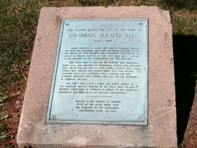 Home of Columbus Horatio Hall Marker image. Click for full size.